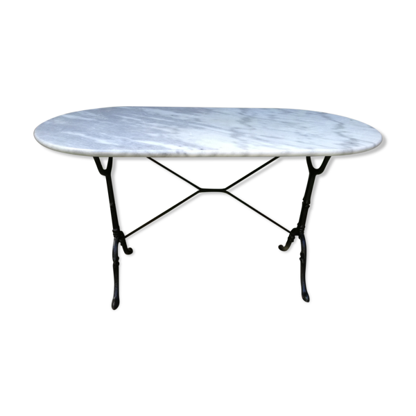 Table bistrot 1900  en marbre de Carrare