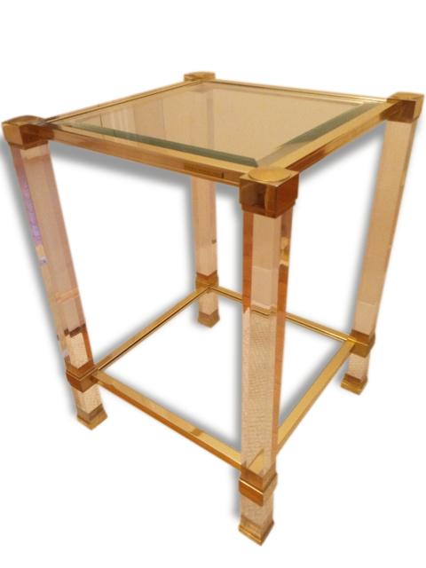 Paire de tables hautes de Pierre Vandel