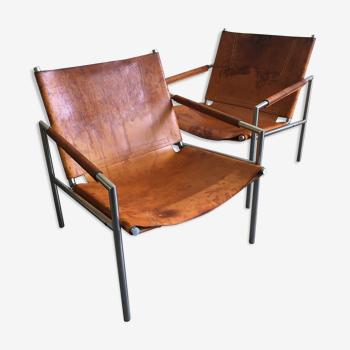 Paire de fauteuils SZ02 de Martin Visser, années 1960