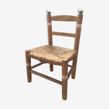 Vintage children's chair wood and colors