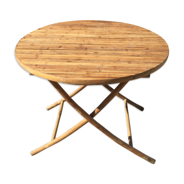 Table ronde pliable