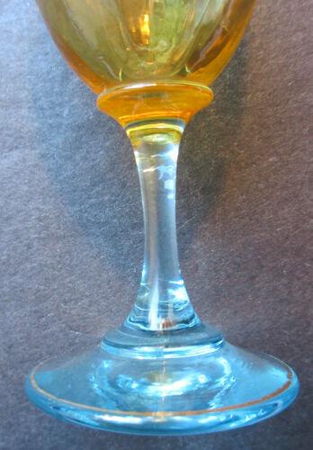 Verre à liqueur sur pied George Sand signé T art nouveau émaillé Legras: Vigne