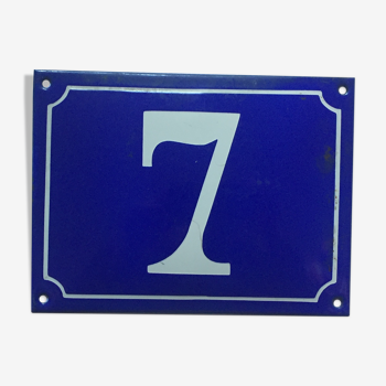 Plaque de rue émaillée n°7