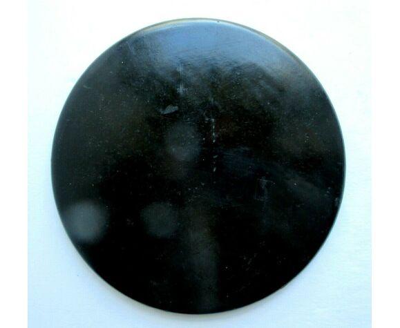 Plateau rond en carton mâché Brins de muguet sur fond noir, Napoléon III