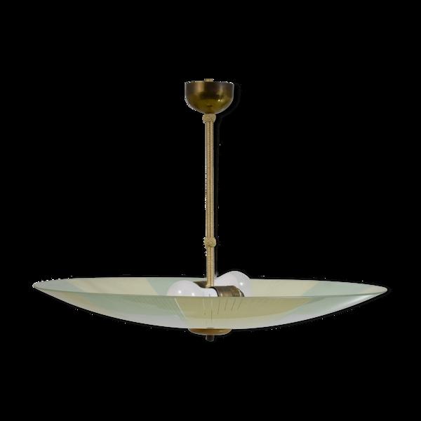 Suspension vintage en verre à motifs couleurs