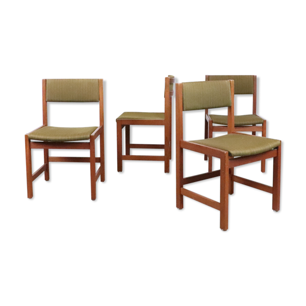 Selency Set de 4 chaises en teck, 1960