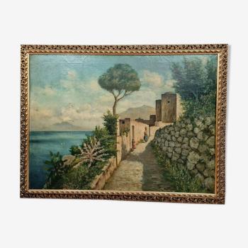 Huile sur toile marouflée sur panneau de bois, École orientaliste Vers 1900