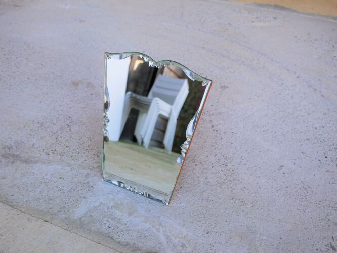 Miroir à poser biseauté art déco 33cm x 25cm