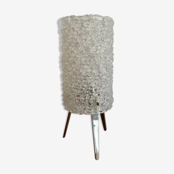 Lampe de table à trépied acrylique, années 1970