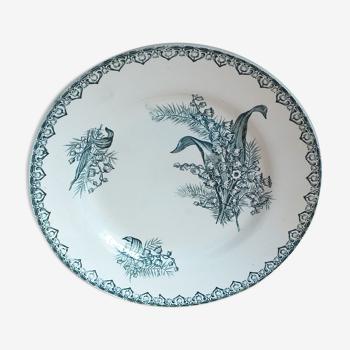 Assiette plate en porcelaine st amandinoise st amand modèle muguet