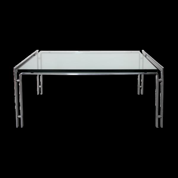 Selency Table basse chrome par Horst Brüning pour Kill