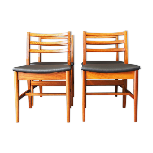 Selency Set de 4 chaises Mid Century