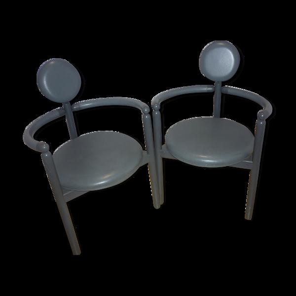 Paire de fauteuils Pan de Vico Magistrelli réedition Rosenthal, 1978
