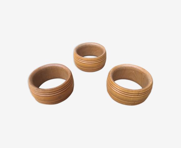 Ronds de serviette en bois