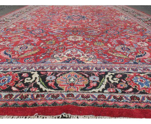 Tapis antique sultanabad all-over design couleurs naturelles - 360x254cm
