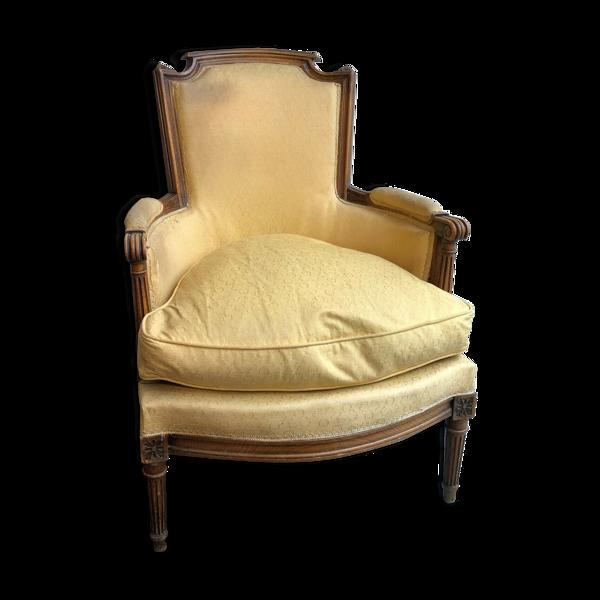 Fauteuil bergère de style Louis XVI ou Directoire