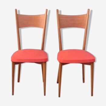 Deux chaises vintage rouge