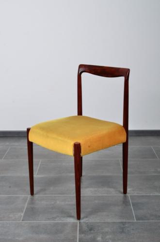 Set de 6 chaises de salle à manger en palissandre de velours de Lübke 1960