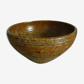 Saladier-bol en grès pyrité