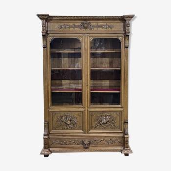 Bibliothèque XIXème en chêne blond estampillée J.Dewaet