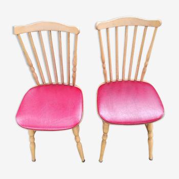 Paire chaises Baumann skai rouge