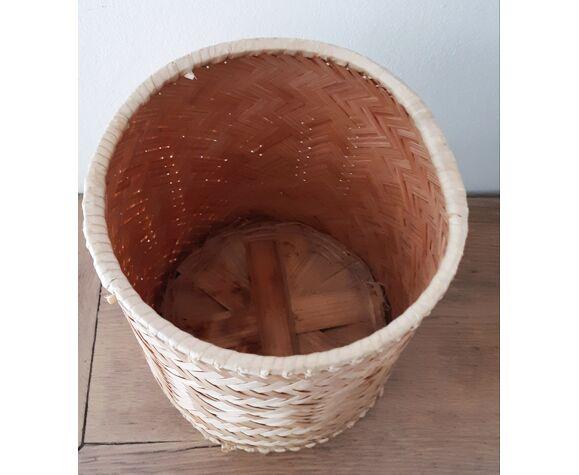 Corbeille à papier panière en osier/rotin