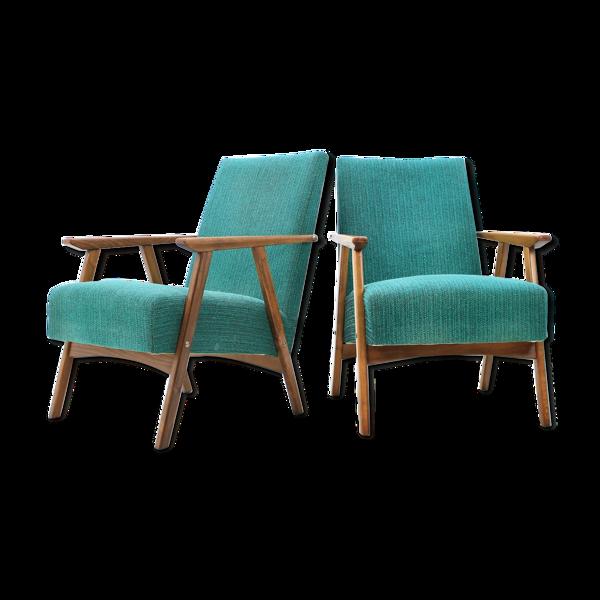 Ensemble de deux fauteuils 1960