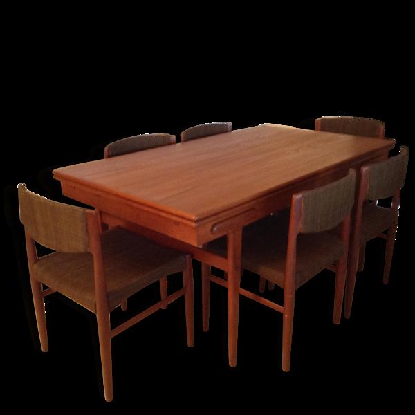 Selency Table  de salle à manger vintage  avec 6 chaises