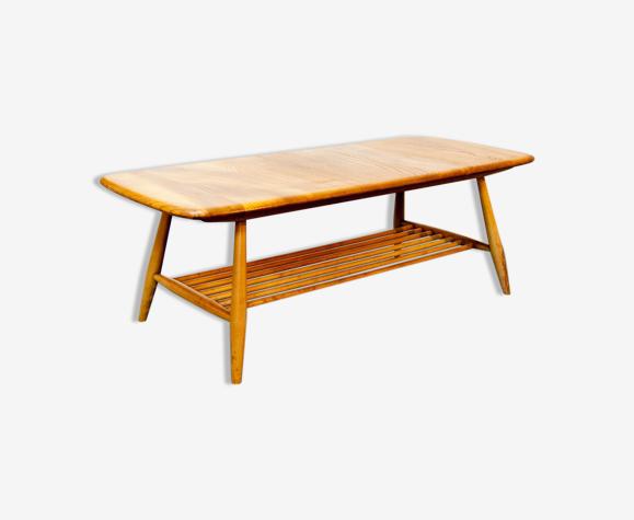 Table basse Ercol en orme vintage