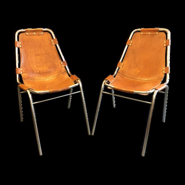 Paire de chaises Les Arcs, circa 1960