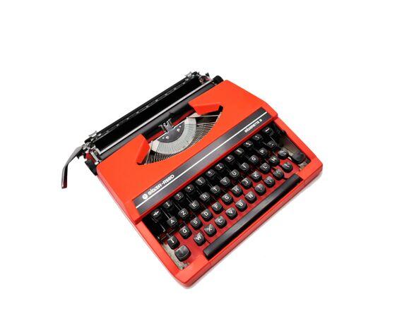 Machine à écrire Silver Reed Silverette S rouge Orange révisée ruban neuf