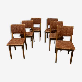 Série de 6 chaises de Jens Risom