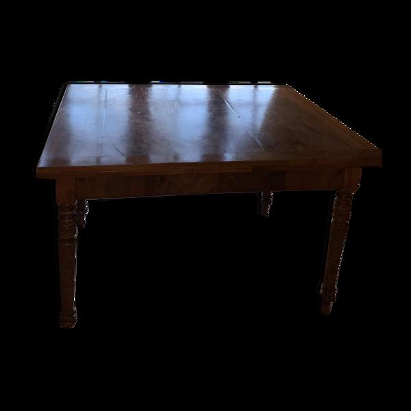 Table a manger en bois avec rallonges des deux cotés