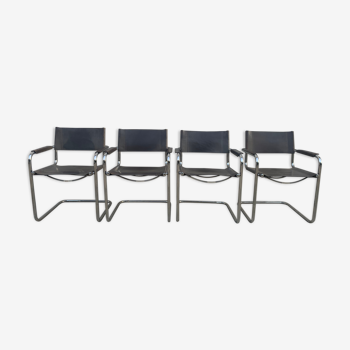 Suite de 4 fauteuils Fasem