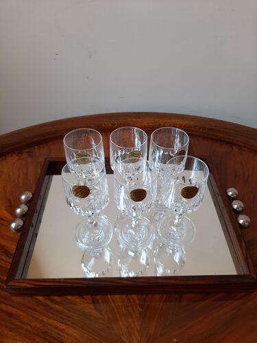 Lot de verres en cristal