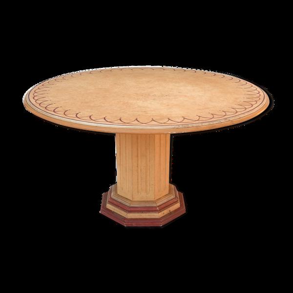 Table ronde peinte
