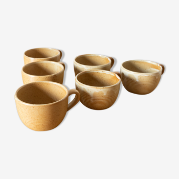 6 Sandstone cups