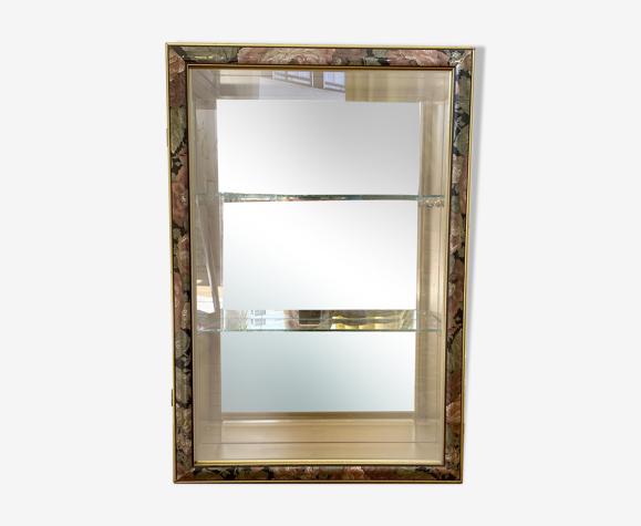Vitrine vintage miroir
