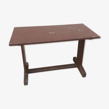 Table bistrot bois années 30