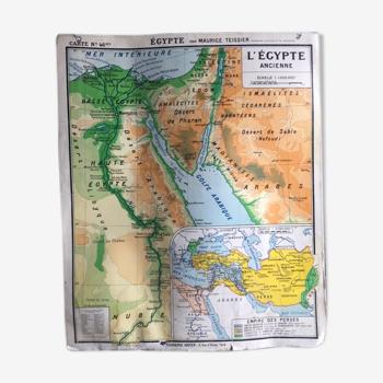 Carte géographie Palestine Egypte