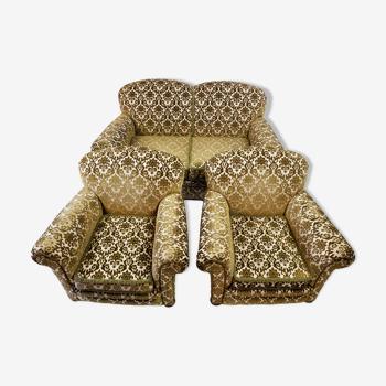 Canapé et 2 fauteuils, années 1960