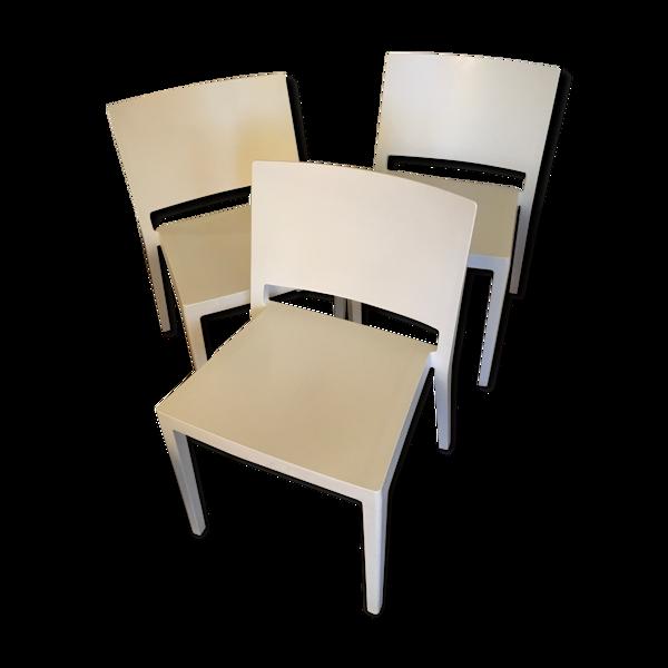 Lot 3 chaises Kartell
