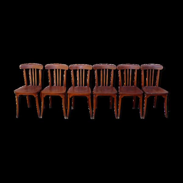 Selency Six chaises monobloc L-M /1960
