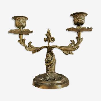 Chandelier en bronze deux branches