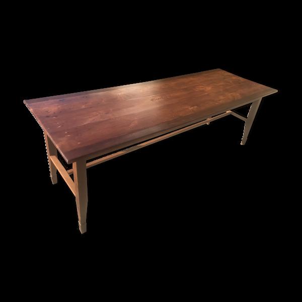 Selency Table de ferme en cerisier et orme, 19ème