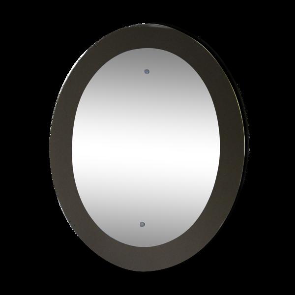 Miroir italien ovale des années 1960