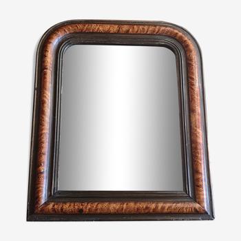Miroir bois et stuc Louis-Philippe fin 19e