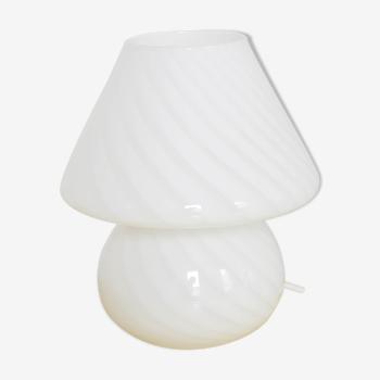 Lampe Swirl Vistosi Murano champignon