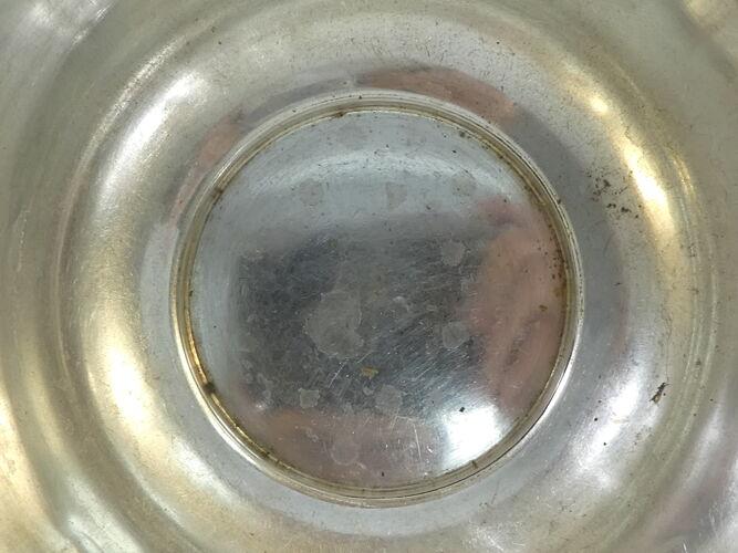 Seau a glace art deco en metal argenté orfevre roux marquiand