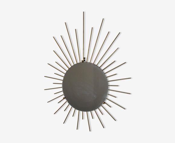 Miroir soleil en laiton - 71x56cm